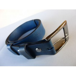 Dámsky kožený opasok-modrý