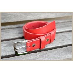 Dámsky kožený opasok-červený