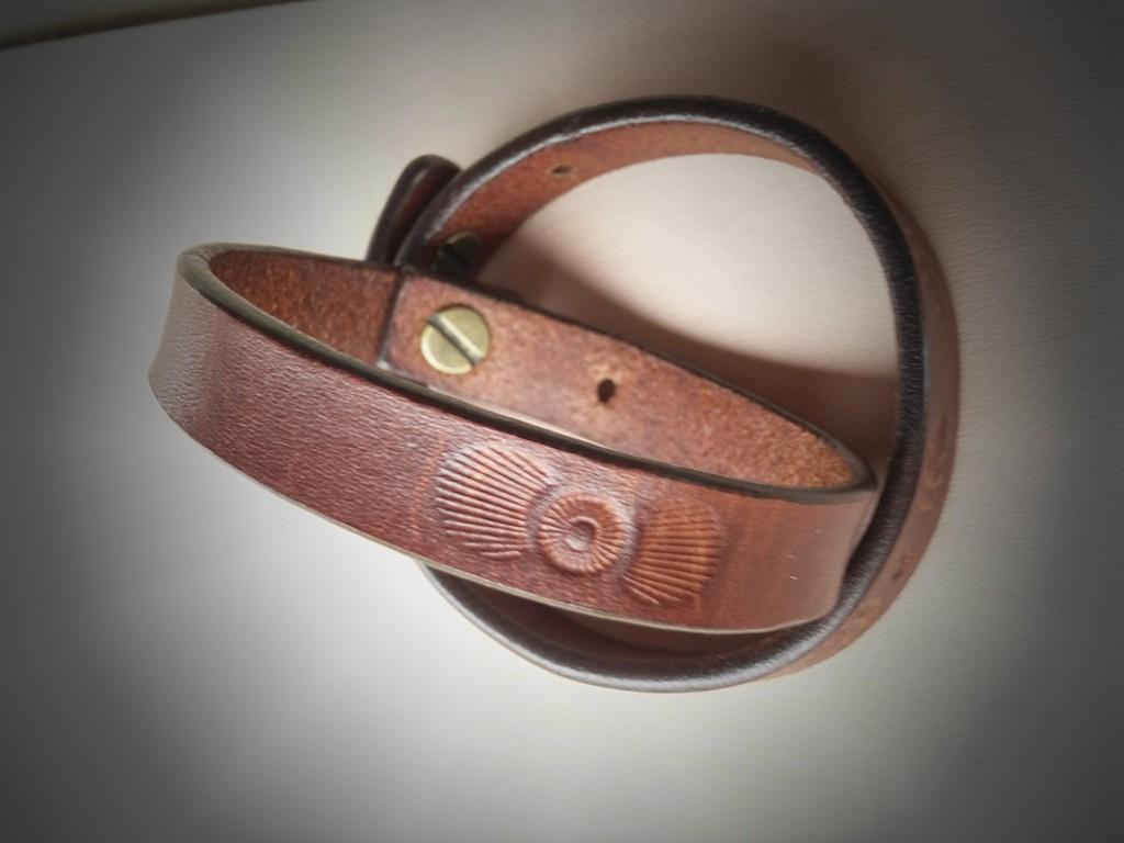 Kožený náramok 12mm - španielská hnedá