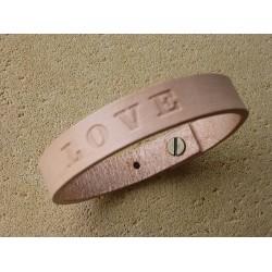 Kožený náramok 12mm - LOVE
