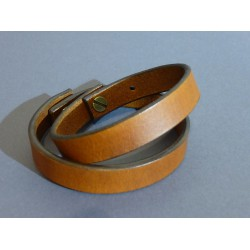 Kožený náramok 12mm - svetlo hnedý